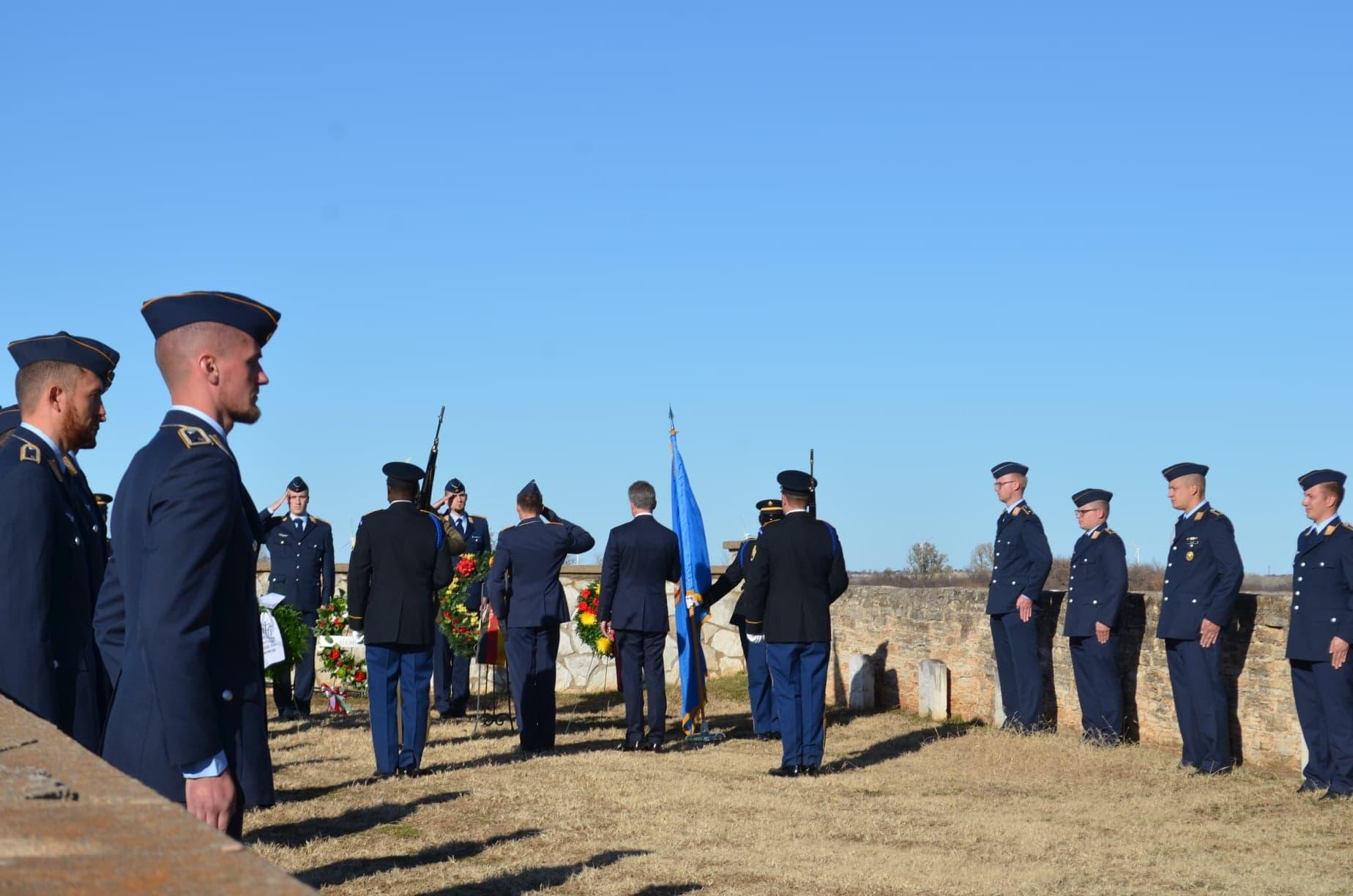 POW Cemetery Fort Reno Salute