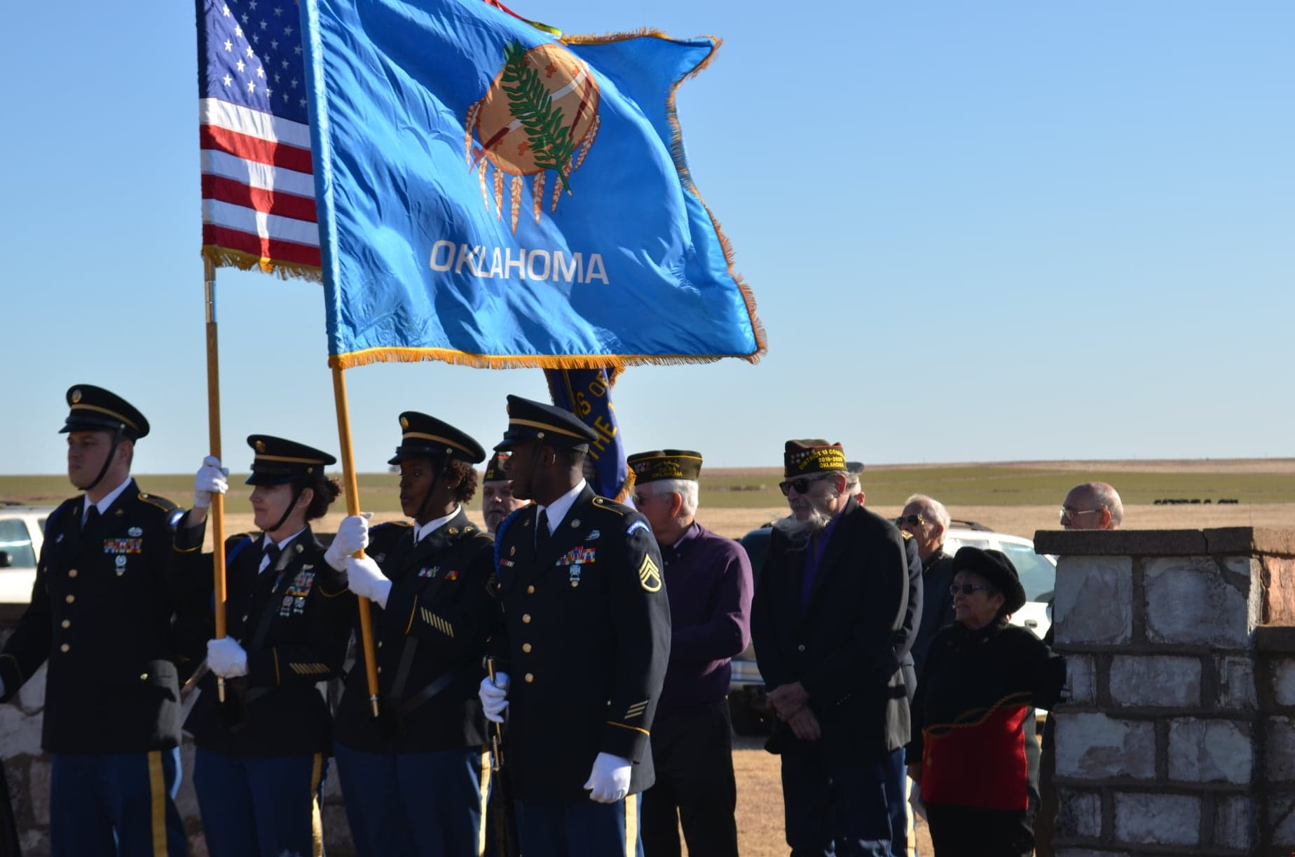 POW Ceremony 2019 Oklahoma American Flags