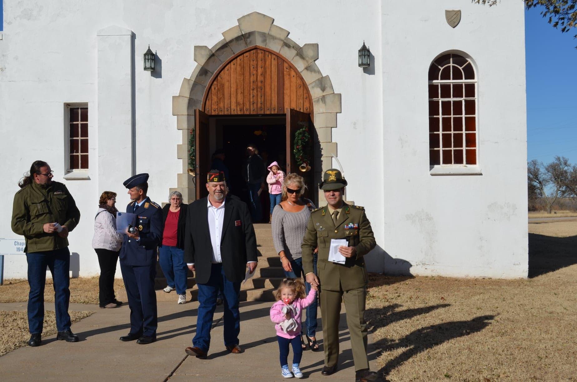 POW Ceremony Fort Reno Chapel